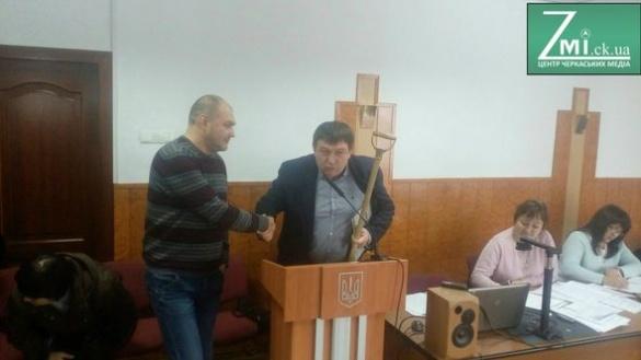 Під час сесії Черкаської міськради