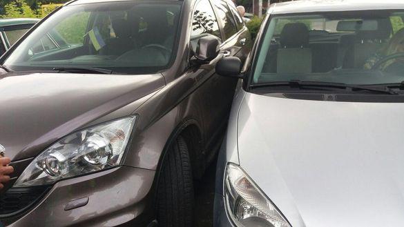 Черкащанка скоїла ДТП під час паркування (ФОТО)