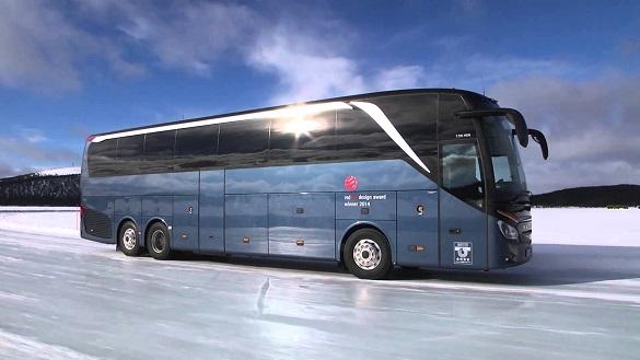 У крижаному полоні: на Черкащині визволяли екскурсійний автобус