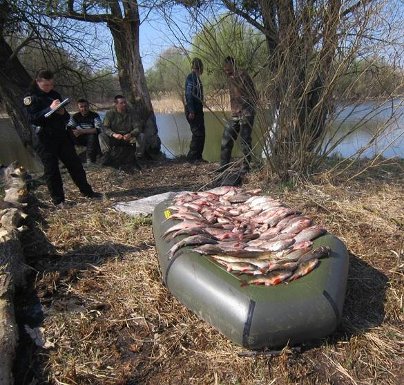 На Черкащині браконьєри наловили риби на майже 10 тисяч гривень