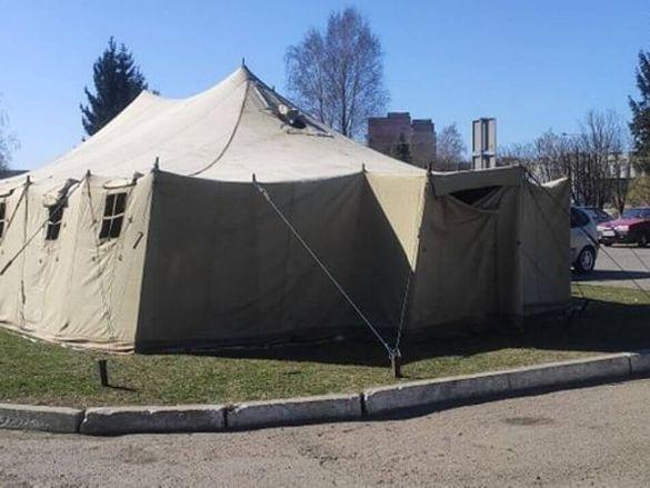 На Черкащині облаштували сортувальний намет для хворих на коронавірус (ВІДЕО)