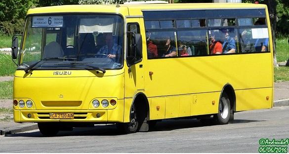 Автобусний маршрут №6 у Черкасах відновив свою роботу