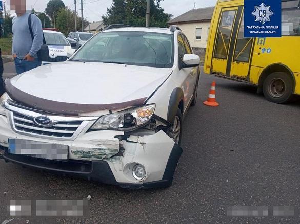 У Черкасах зіштовхнулися два автомобілі