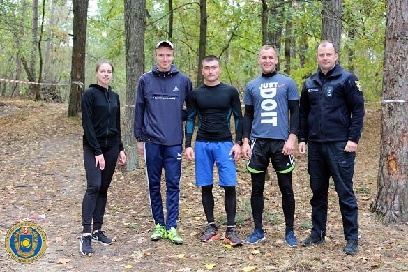 Черкаські рятувальники здобули нагороди на змаганнях з легкоатлетичного кросу