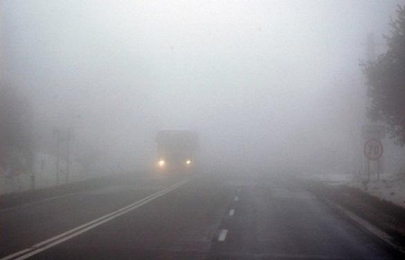Черкащан попереджають про обмежену видимість на дорогах