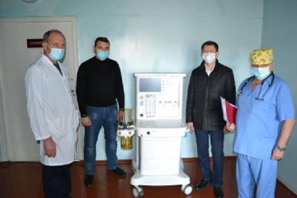 Для лікарні в Черкаській області купили ШВЛ-апарат
