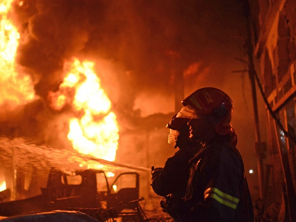 У Черкаській області сталася нічна пожежа в бані