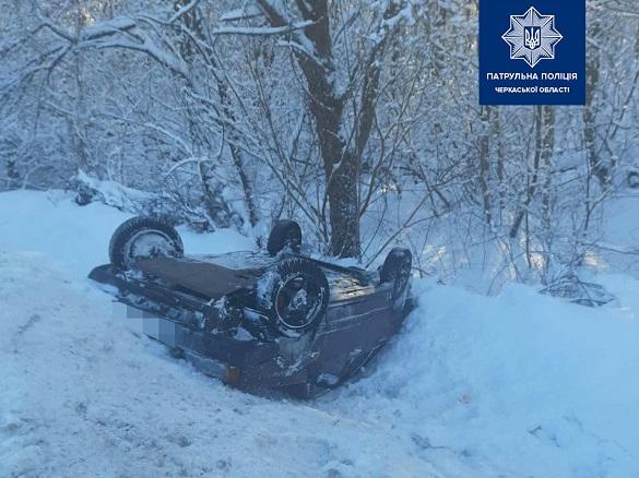 Злетів у кювет: на Черкащині п'яний водій не впорався з керуванням