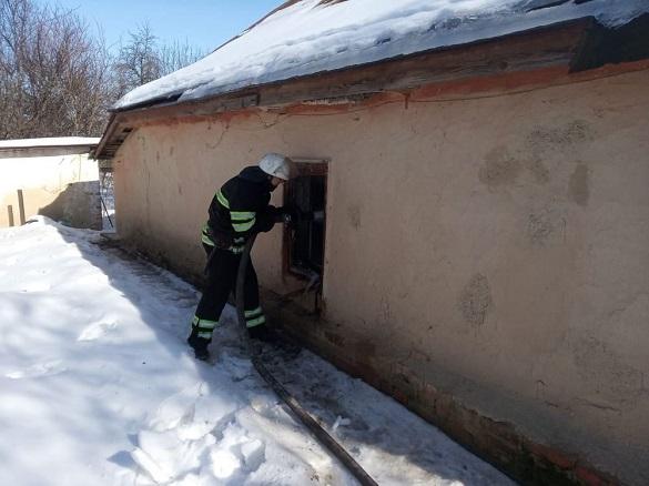 Через пічне опалення на Черкащині сталася пожежа