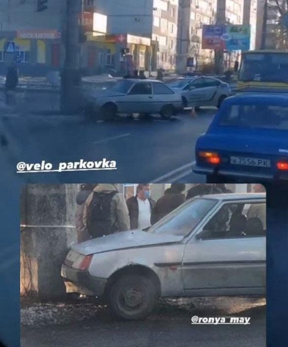 У Черкасах п'яний водій не впорався з керуванням та в'їхав в електроопору