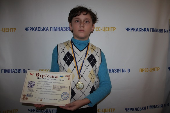 Черкаський школяр виборов призове місце на канадсько-українському фестивалі творчості