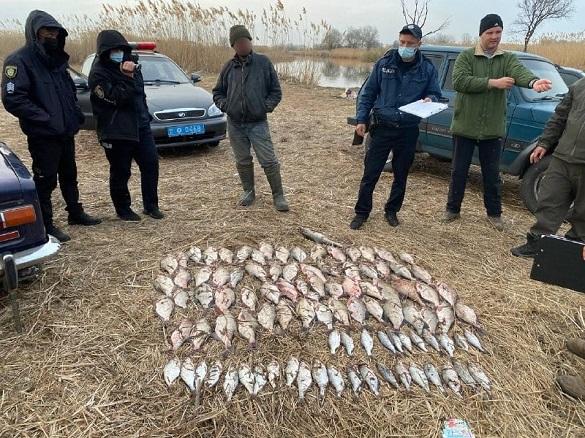 У Черкаській області затримали браконьєрів, які наловили риби на майже 30 тисяч гривень (ФОТО)