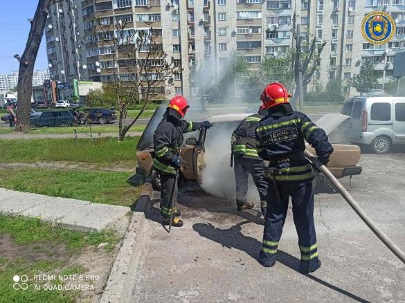 Під час у Черкасах руху загорівся автомобіль (ФОТО)