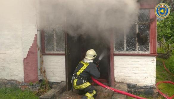 Під час пожежі будинку на Черкащині постраждав господар