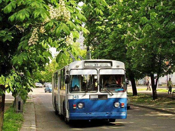Сьогодні один із тролейбусів у Черкасах курсуватиме по-іншому