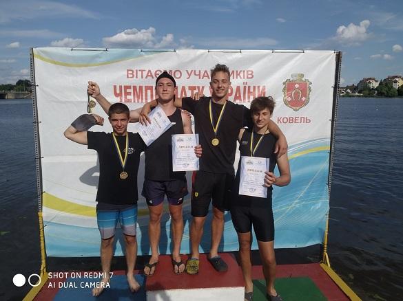 Черкаські спортсмени стали чемпіонами України з веслування