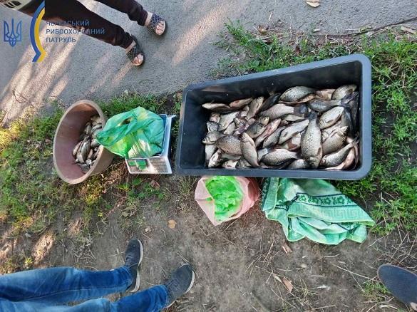 На ринках у Черкаській області люди незаконно продавали рибу (ФОТО)