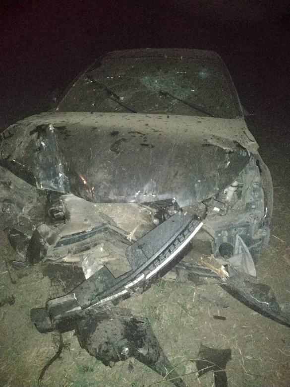 На Черкащині автомобіль злетів у кювет: двоє постраждало