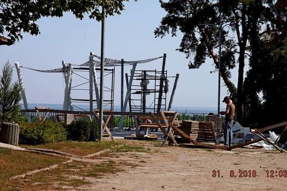 Оглядовий майданчик у черкаському парку відкриють пізніше, ніж обіцяли