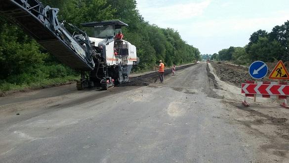 На Черкащині розпочали ремонт дороги нацзначення