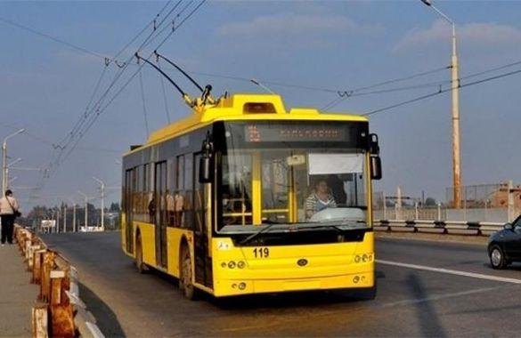 У Черкасах деякі тролейбуси змінять свій рух