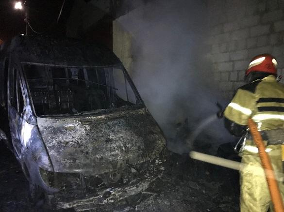 На Черкащині загорівся автомобіль (ВІДЕО)