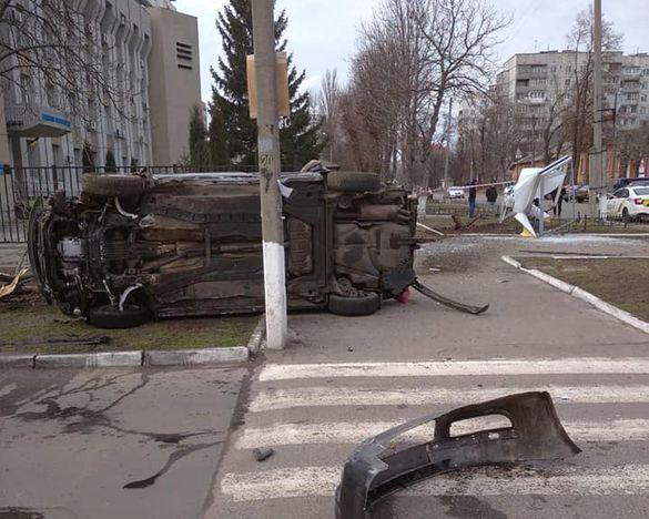 У Черкасах перекинулося авто: постраждали тато та дитина (ФОТО)
