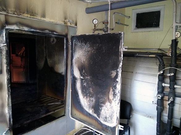 На території онкологічного диспансеру в Черкасах сталася пожежа (ФОТО)